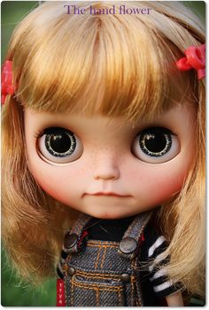 RESERVED on layaway by Christine .OOAK Custom Blythe doll Tanned