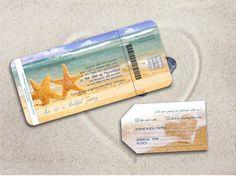 BEACH WEDDING INVITATION printable Destination Wedding - Orlando Suite (Starfish beach wedding theme)