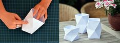 DIY geometrische windlichtjes van papier - 101 Woonideeën »    101 Woonideeën