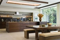 Marron Cohiba Granite tops and wall cladding South Kensington London, Kensington House, Louise Jones, Wall Cladding, Interior Design Companies, Wooden Kitchen, Kitchen Design, Kitchen Ideas, Kitchen Inspiration