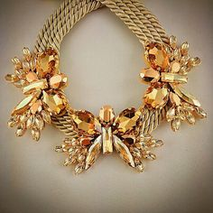 New Summer Collection: Big #Gold #Shadow #Butterflies #Statement #Necklace - All #Crystals from #Swarovski® - All #Gold-plated #Elements #instafashion #instalike #instagood #fashion #unique #design #handmade #soldering #gold #goldplated #swarovski #rosegold #swarovskicrystals #crystal #summer #colour #colours #insta #jewels #jewelry #beauty #beautiful #statementnecklace #collection #beige #gold #rosegold #shadow #butterflies #jewelsmarina #marinajewels @jewelsmarina