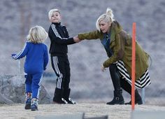 Gwen Stefani and Gavin Rossdale spend their last day in Mammoth, California with their boys Kingston and Zuma