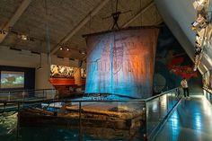 The Original Kon-Tiki Raft in the Kon-Tiki Museum, Oslo Norway. Just saw the movie. I want to go see this now :)