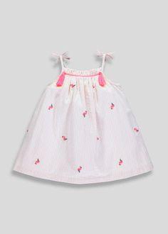 08d52be37e Girls Flamingo Stripe Dress (9mths-6yrs) – Pink – Matalan  #summerdressesmatalan