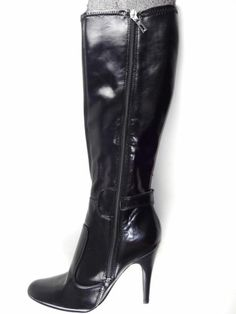 005755f1417 MARC FISHER  SUNSHINE 5  Women s Shoes Black Wide-Calf Tall Boots US Size 6
