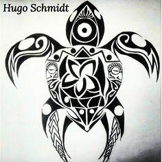 tartaruga com símbolo maori