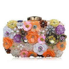 feaca9f3335d Milisente Women Evening Handbag Flower Beaded Clutch Purse Bag  Handbags   Amazon.com