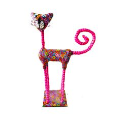 Cat sculpture /home decor / home design/polymer clay/ by MIRAKRIS
