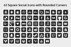 2020 Rounded Square Social Icons Social Icons Icon App Icon Design