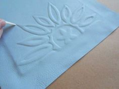 Embossing on Leather - Raised Design - Part II