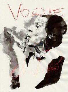 Diana Vreeland by Mitja Bokun