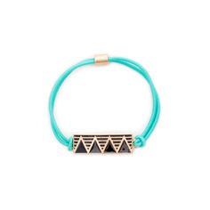 Love this! Found it on Kathy's Jewelry Boutique This little multi-tasker is all sorts of convenient! For those days when your hair is up, then down...then up again- Heather is the perfect elastic. A zig-zag emblem adds detail to Heather's summery mint colored elastic band.