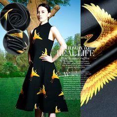 Zijden+Print+stof+Floral+zijde+satijn+stof+Fashion+door+AshleyFabric