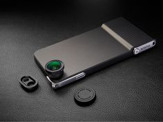 An iPhone 6 case with an actual shutter button & interchangeable lenses that make photo-taking easy, fun and professional.