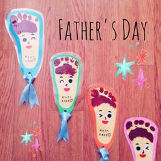 Diy And Crafts, Crafts For Kids, Arts And Crafts, Infant Activities, Preschool Activities, Baby Footprint Art, Baby Footprints, Baby Memories, Fathers Day Crafts