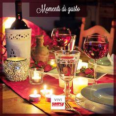 Tornare a casa e trovare la tavola splendidamente apparecchiata per una cena romantica… Momento di gusto! #ViviSimply