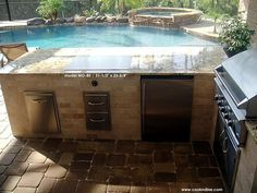 Outdoor Hibachi Tables   Outdoor Kitchen With Built In Teppanyaki Grill