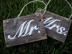 cute wooden signs for a wedding