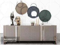 Sell Sideboard 2019 vol 2 set - Maxbrute Furniture Visualization Foyer Design, Dining Room Design, Design Design, Luxury Home Furniture, Furniture Design, Garden Furniture, Chair Design, Modern Furniture, Room Decor Bedroom