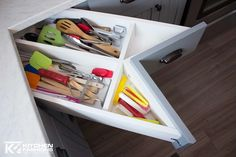 Kitchen Fashions - Home  | Accessories - Drawers Organizers  Built in dividers in corner drawer cabinet
