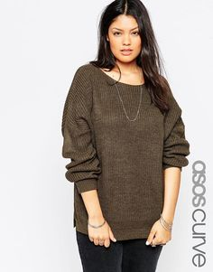 Buy ASOS CURVE Ultimate Chunky Jumper at ASOS. With free delivery and return options (Ts&Cs apply), online shopping has never been so easy. Get the latest trends with ASOS now. Fashionable Plus Size Clothing, Plus Size Fashion For Women, Asos Curve, Fat Fashion, Fashion Online, Jumper, Girl With Curves, Warm Outfits, Comfy Casual