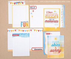 In a Creative Bubble: New journaling cards (+ giveaway!)