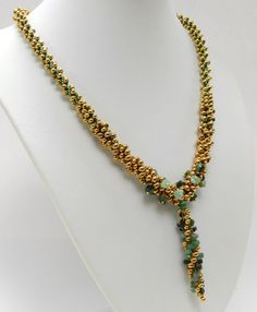 Emerald kumihimo necklace