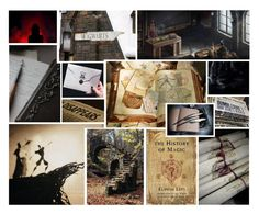 """""""History of Magic"""" by thehelsinghatter ❤ liked on Polyvore featuring art, classes and PottermoreInPolyvoreMagicChallenge"""