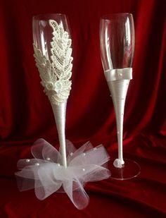 PEARL 30th Anniversaire De Mariage Champagne Verre Flute Set Présentation Boîte Cadeau