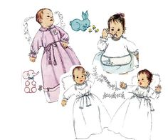 1960s Baby Layette Vintage Sewing Pattern by allthepreciousthings, $16.00