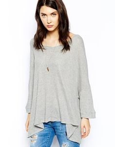 Free People T-Shirt in Waffle Knit