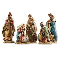 "Versil Joseph's Studio Resin 5-piece Flat Profile Nativity Figurines 9.75"" x 9.25"" x 5.25"" -- Awesome products selected by Anna Churchill"