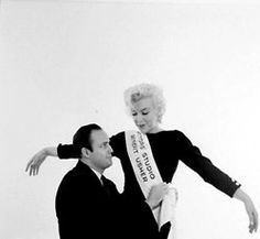 """Marilyn Monroe and Marlon Brando photographed by Milton Greene for the Actor's Studio """"Rose Tattoo"""" Benefit, December 12th 1955."""