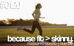 """When people describe me I never want to be """"skinny"""". I want to be fit."""