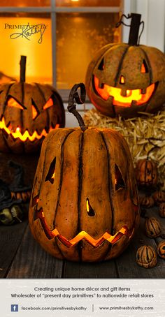 Decorative pumpkins for your home and Halloween decor.