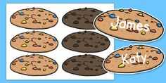 Editable Cookies Name Labels - These lovely themed labels are a time-saving must! Great for a variety of uses around your classroom or at home - absolutely perfect for pegs and drawers. Why not check out our full range of themes to find the perfect one for your child?