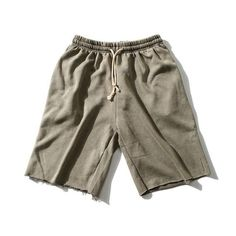 High Quality Casual Shorts Men Summer Pure Color Beach Knee Length Shorts Man Simple Loose Shorts 8 Color Optional