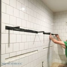 to Install Heavy Duty Floating Shelves - for the Kitchen How to Install Heavy Duty Kitchen ShelvesHow to Install Heavy Duty Kitchen Shelves Kitchen Ikea, Diy Kitchen Shelves, Floating Shelves Kitchen, Rustic Kitchen, Kitchen Furniture, New Kitchen, Kitchen Redo, Furniture Stores, Furniture Ideas