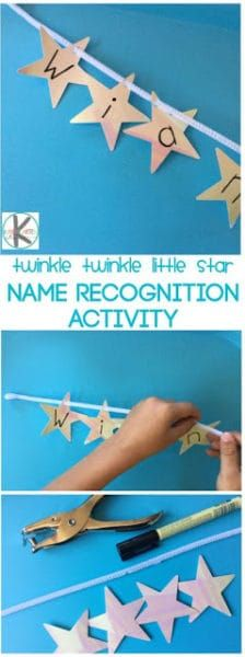 Name Recognition Twinkle Twinkle Little Star Activities