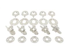 BP Turnbutton Fastener Kit for Fabric to Fabric Application Boat Covers, Narrowboat, Fasteners, Plating, Kit, Fabric, Tejido, Fabrics, Tejidos