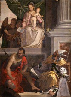Paolo Veronese-Pala Bevilacqua-Lazise,1548,223×172 cm,olio su tela,Verona,Museo civico di Castelvecchio