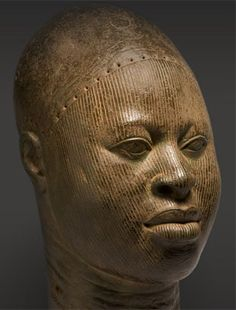 Copper head Found at Wunmonije Compound in Ife, Nigeria. Created between the late 14th century and the early 16th century.