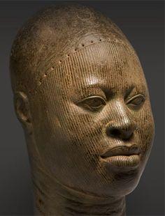 Copper head. Found at Wunmonije Compound, Ife, Nigeria. Late 14th-early 16th century