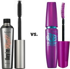 Benefit they're real! mascara vs. maybelline the falsies mascara