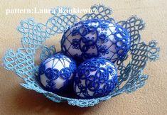 Wielkanocny koszyczek, tatting, Easter , tatting box, tatting eggs, frywolitka, frywolitkowe dekoracje