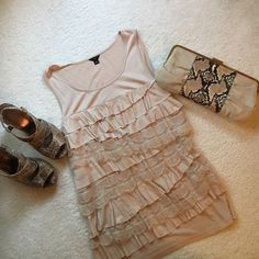 Ann Taylor lacy top Lacy tank top in champagne color Ann Taylor Tops Tank Tops