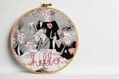 Custom Hand Embroidered Hoop Art by The Merriweather Council | Hatch.co