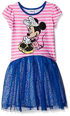 Disney Little Girls Minnie Yds Ss Dress Marine Blue 5 -- Learn more by visiting the image link.