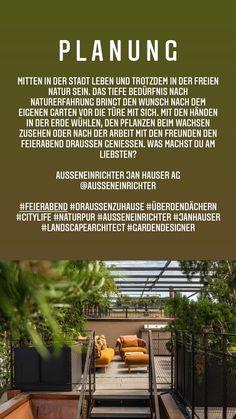 by Ausseneinrichter Jan Hauser Ag Inspiration, Patio, Plants, Nature, Life, Lawn And Garden, Biblical Inspiration, Inspirational, Inhalation