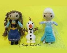 Disney Frozen Olaf Doll Amigurumi Crochet Handmade